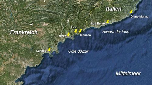 Monaco Italien Karte.Unbenanntes Dokument
